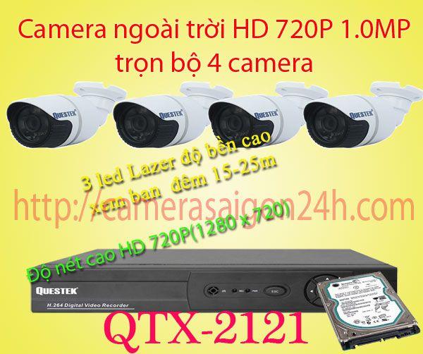 Lắp đặt camera quan sát giá rẻ Camera quan sát ngoài trời HD qtx-2121ahd