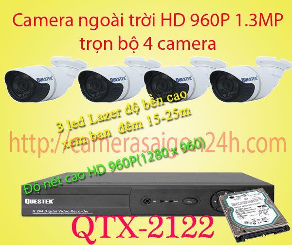 Lắp đặt camera quan sát giá rẻ camera quan sát ngoài trời độ nét cao QTX-2122AHD