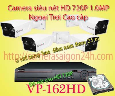 Lắp đặt camera quan sát giá rẻ Camera giám sát ngoài trời cao cấp VP-162AHDM