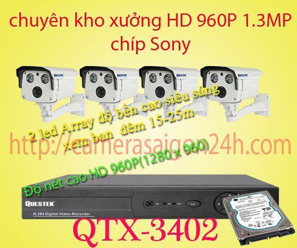 camera chuyên dụng kho xưởng, camera giám sát kho xưởng,QTX-3402AHD