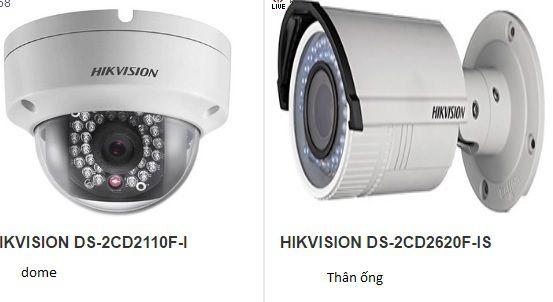 camera quan sát dome dung lăp trong nhà và camera quan sát thân dung lắp ngoài trời
