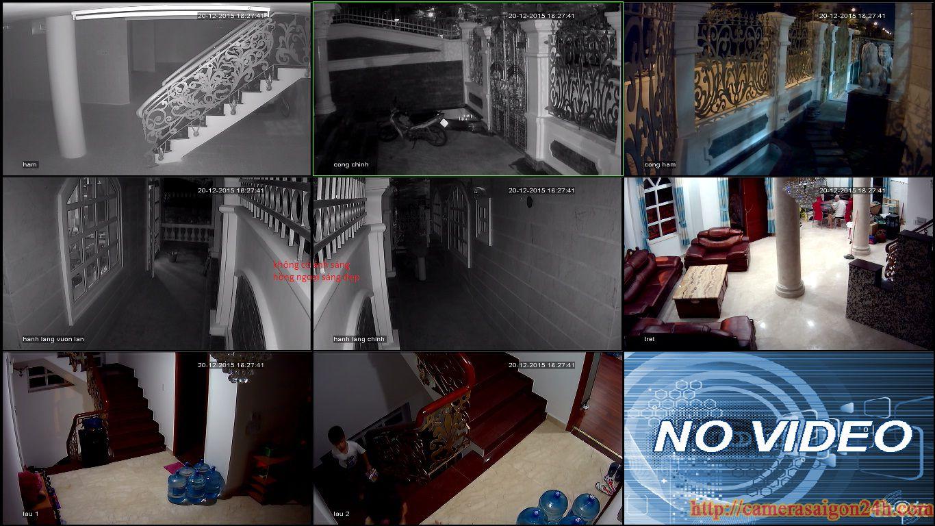 lắp đặt camera quan sát cho biệt thự