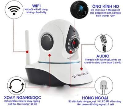 camera quan sát wifi IP Vantech