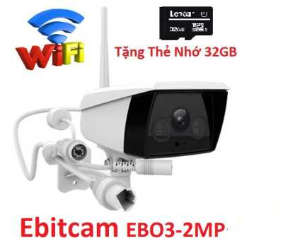 Ebitcam EB03-2MP,Lắp Đặt Camera IP Wifi Ngoài Trời Ebitcam EB03,camera quan sát Ebitcam EB03-2MP,camera wifi Ebitcam EB03-2MP, camera ip Ebitcam EB02-2MP